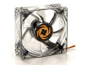 "Revoltec Fan ""Dark Grey"", 80x80x25 mm, 4 x white LED"