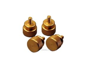Revoltec thumbscrews, gold, 4 pcs.