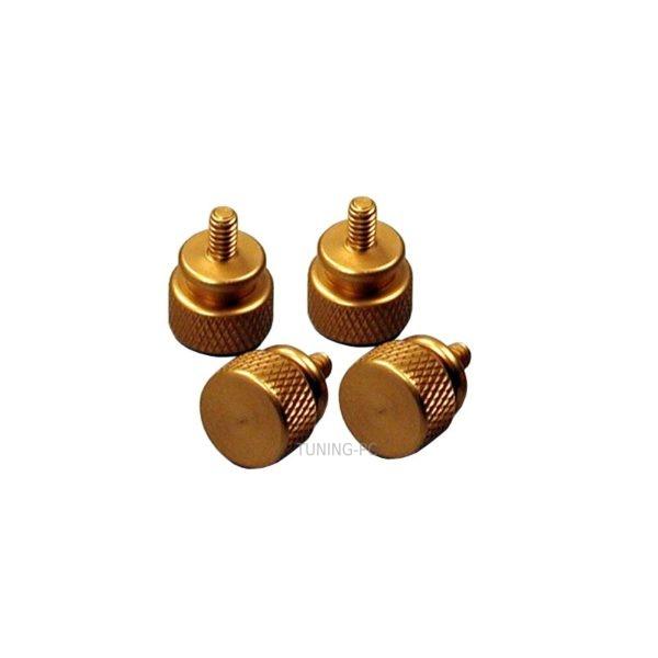Revoltec thumbscrews, gold, 4 pcs.