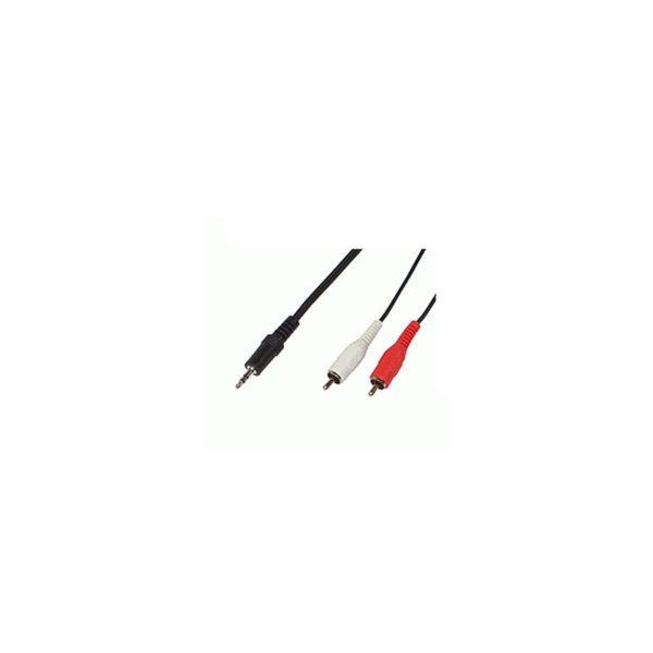Audio stero 3.5mm to 2x chinch 1,5m