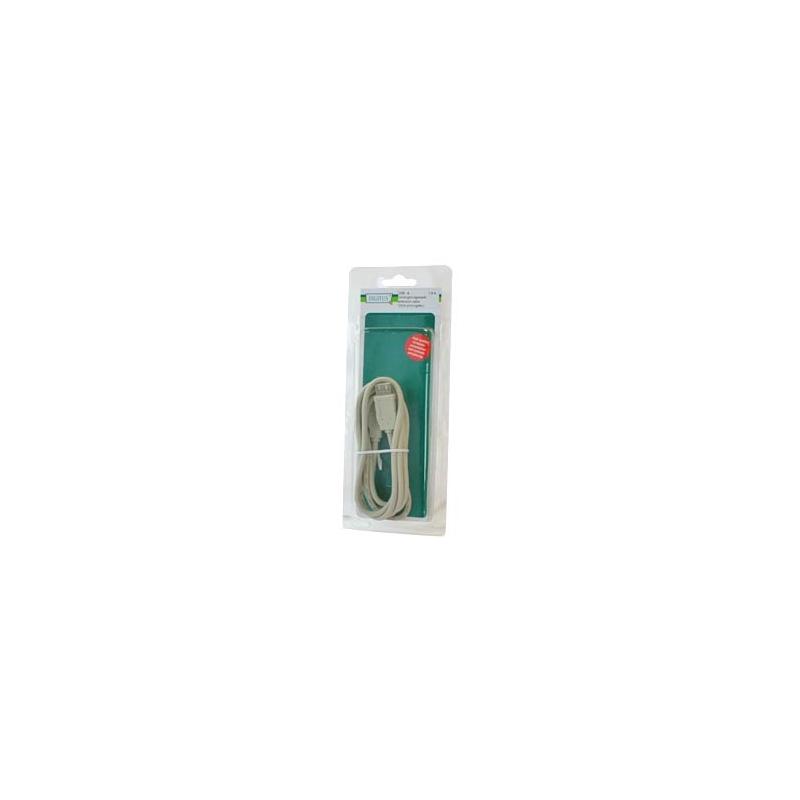 Digitus USB Extension Cable USB A/A M/F 1,8m Beige