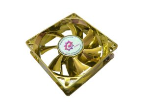 Sunbeam Silent Anodized Led Fan 80mm Yellow