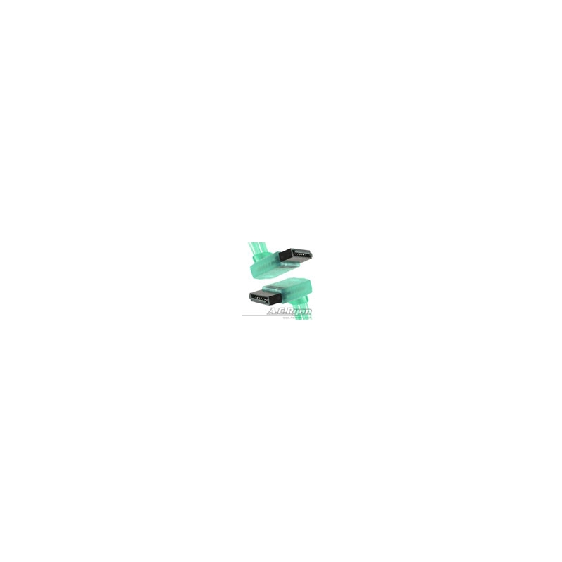 ACRyan SATA Cable 50cm UV Green 2x90°