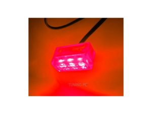 3 Spread Clear Box LED Red
