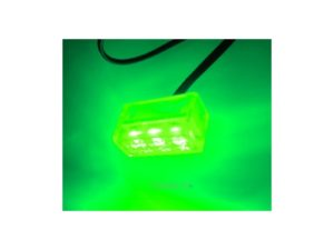 3 Spread Clear Box LED Green