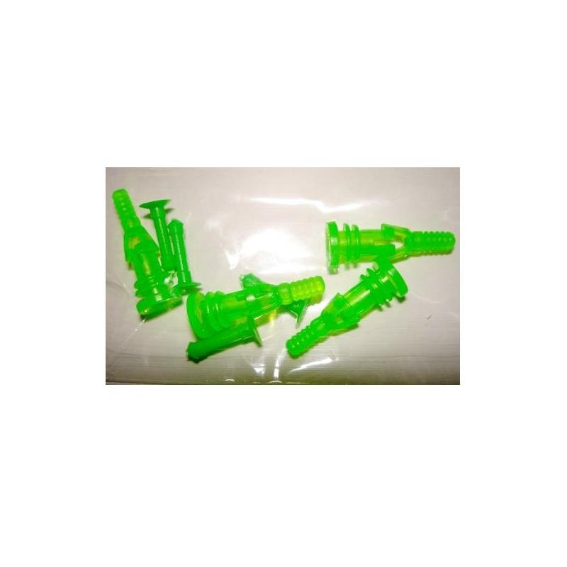 Rubber Screw Delux 4PC UV Green