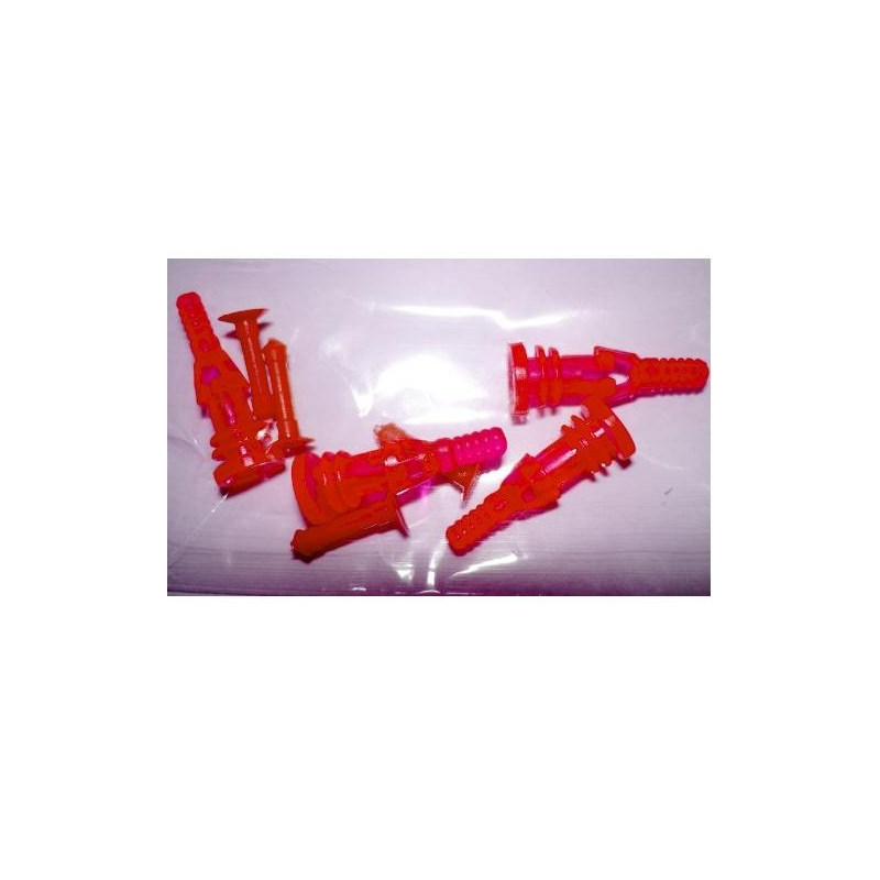 Rubber Screw Delux 4PC UV Red