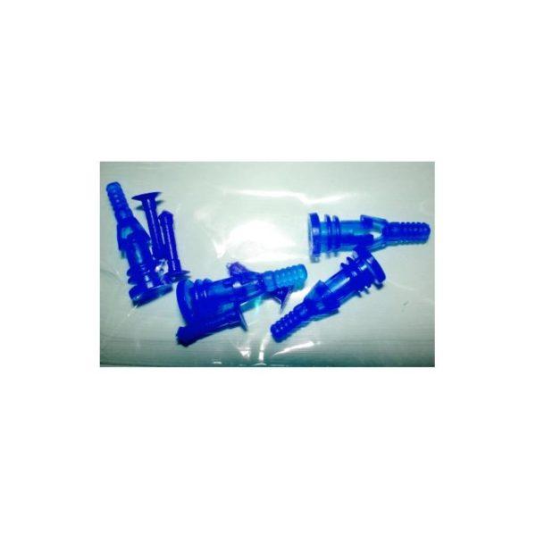 Rubber Screw Delux 4PC UV Blue
