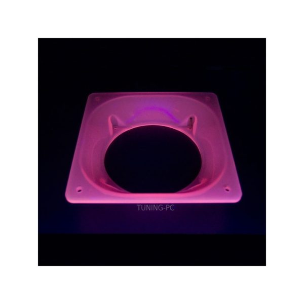 Fan adapter Acryl 120-140mm Red UV