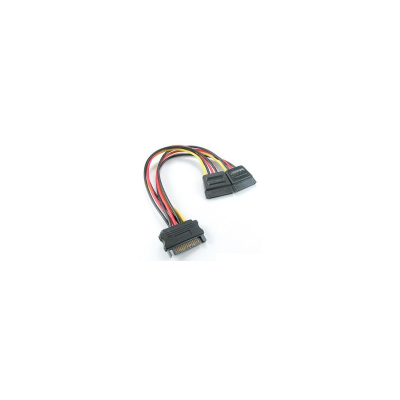 Inline SATA Power Y Splitter Cable