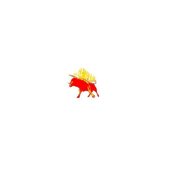 Window Sticker Bull Red Yellow