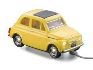 Souris USB Fiat 500 Jaune